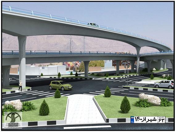 توسعه شتابان جنوب شیراز، برنامه ویژه برای زیباسازی پل معالی آباد