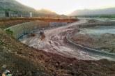تصاویری از روند ساخت تقاطع ورودی آرامستان بهشت احمدی