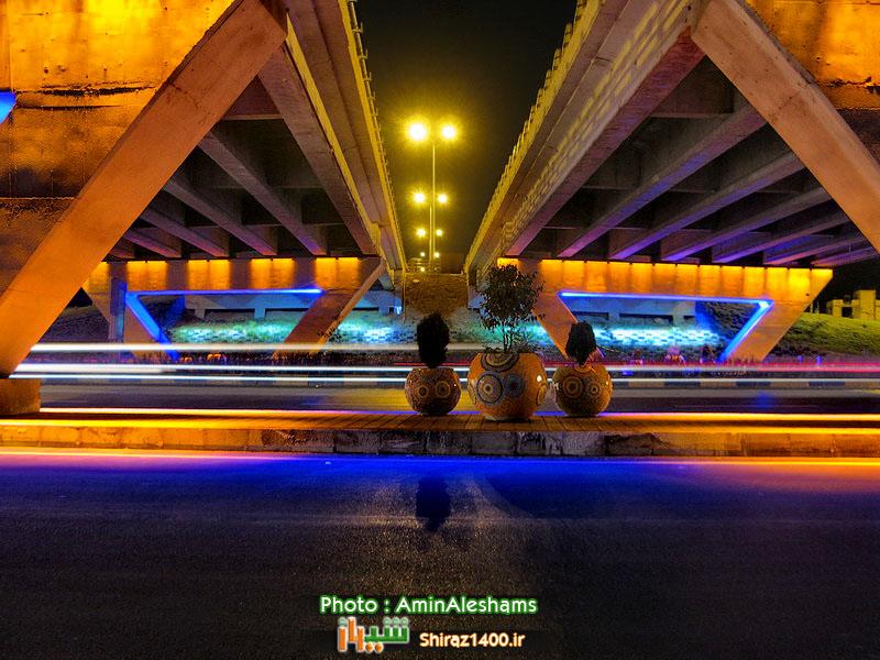 نورپردازی و زیباسازی پل شبدری دکترحسابی