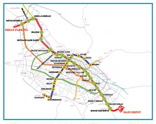 عکس : نقشه کلیه خطوط مترو شیراز