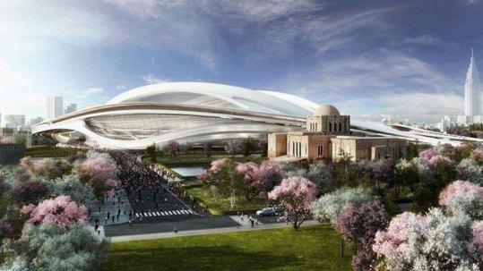 استادیوم توکیو  طراحی شده توسط زها حدید