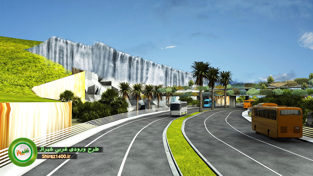 طرح المان ورودی غربی شیراز