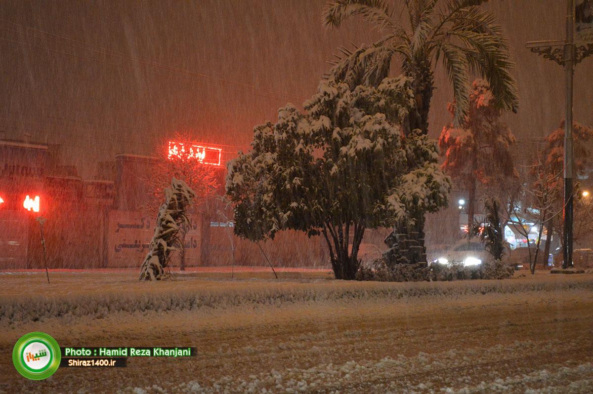 نگاه شما : بارش برف زمستانی در بلوار مدرس