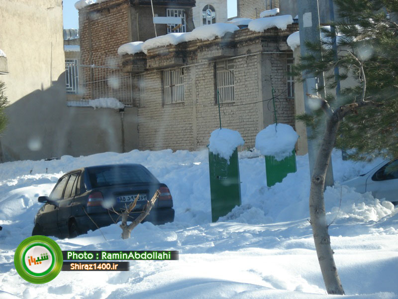 گزارش تصویری : شهرک گلستان دو روز پس از بارش سنگین برف