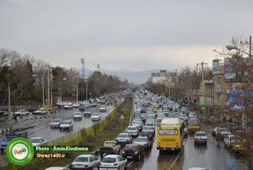 ترافیک شیراز همچنان با یک بارش باران قفل می شود!