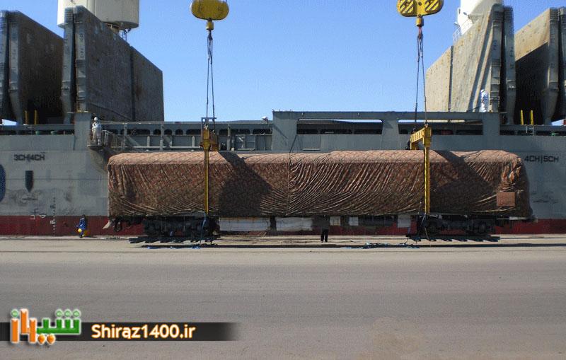 دومین سری از سه محموله واگنهای متروی شیراز به بندرعباس رسید