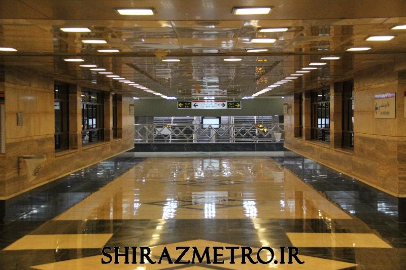 گزارش تصویری: ایستگاه مترو میرزای شیرازی شیراز