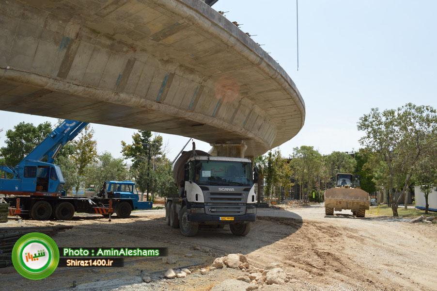 گزارش تصویری : پل کابلی ولیعصر شیراز – قسمت دوم