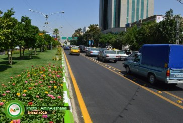 گزارش تصویری : خط ویژه بلوار زند بعد از حذف نرده ها
