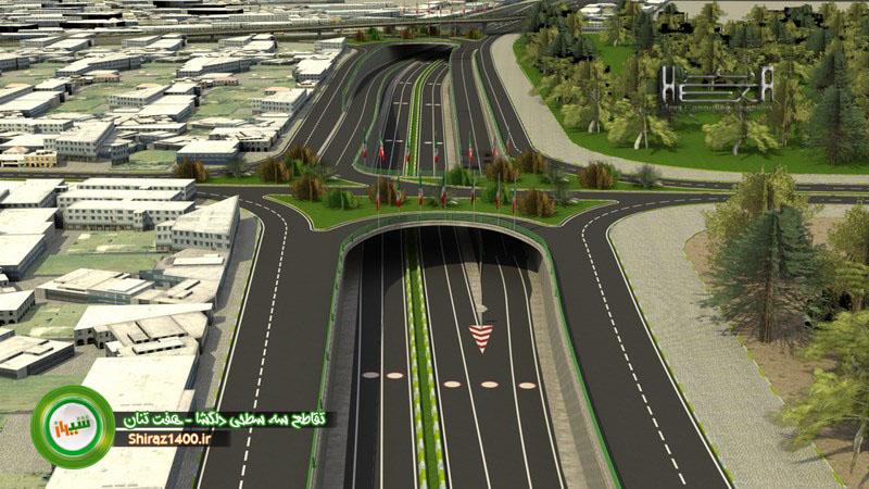 طرح جدید تقاطع سه سطحی دلگشا