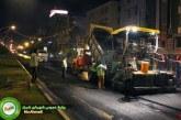 گزارش تصویری: بازدید شبانه شهردار از آسفالت خیابان زند