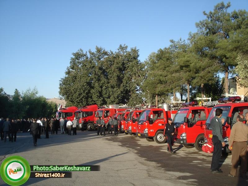 ماشینهای جدید آتش نشانی شیراز