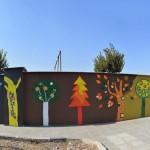 """گزارش تصویری : طرح کاشی شکسته دیواری با عنوان """"باغ هفت رنگ """""""