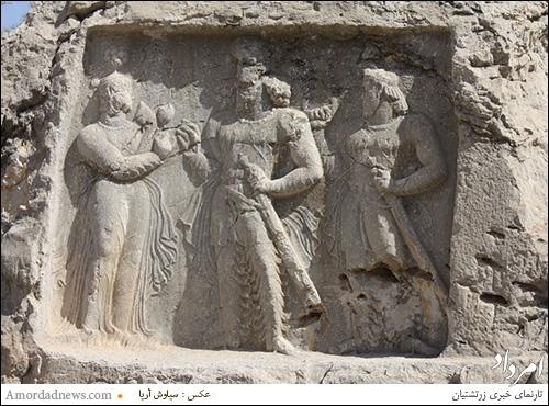 سنگ نگاره ساسانی نامور به تنگ قندیل.