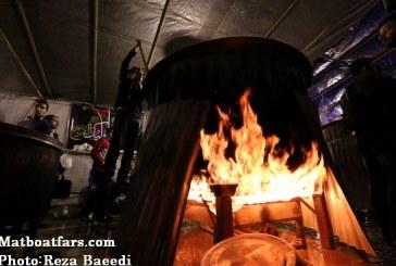 گزارش تصویری: پخت بزرگترین آش نذری در شیراز