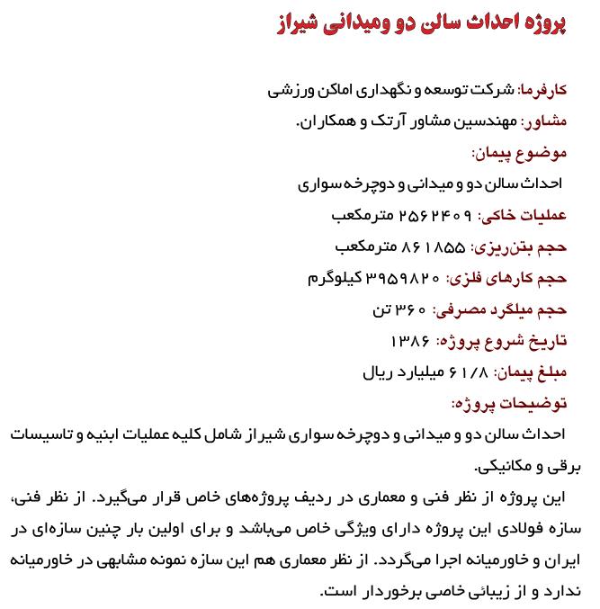 سالن دو و میدانی و دوچرخه سواری شیراز