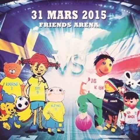 پوستر جالب فدرسیون فوتبال سوئد برای بازی دوستانه با ایران