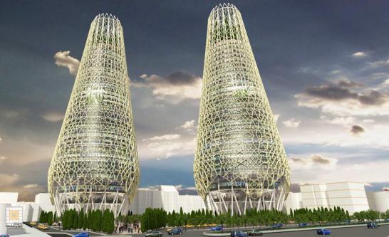 طرح پیشنهادی برجهای دوقلوی زند