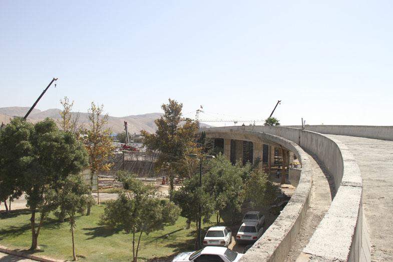 بهره برداری از پل کابلی شیراز در سال آینده