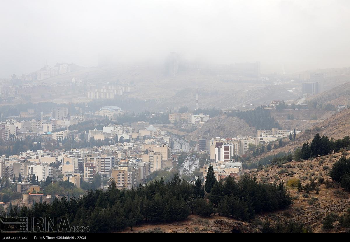 گزارش تصویری : بارش باران پاییزی در شیراز