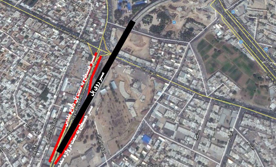 وضعیت خیابان زینبیه پس از ساخت پل ولیعصر