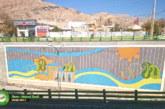 عکس : اجرای بزرگترین طرح کاشی شکسته شیراز در زیرگذر دلگشا