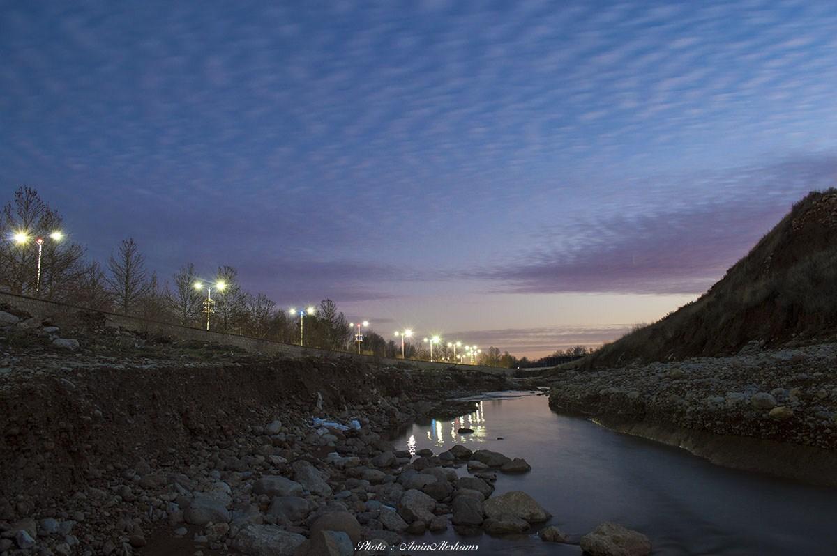 گزارش تصویری : غروب دل انگیز زمستان شیراز