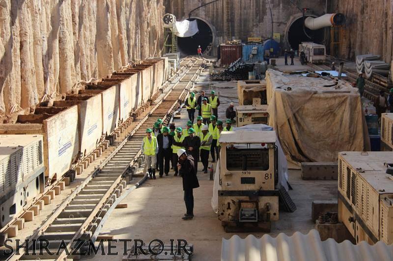 گزارش تصویری : پیشرفت خط ۲ مترو شیراز