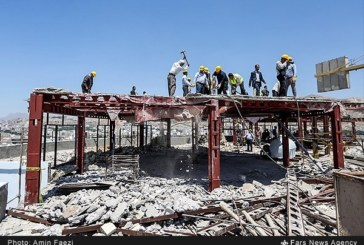 گزارش تصویری : تخریب یک طبقه از هتل آسمان برای نجات ارگ کریمخان