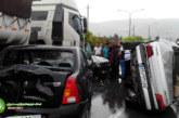 عکس : تصادف شدید چند خودرو در بلوار فرصت شیرازی