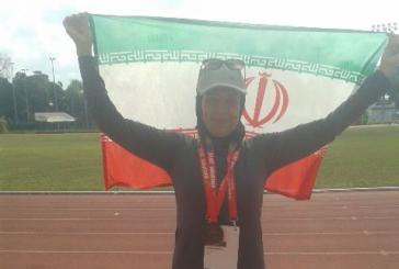 مدال برنز دو بزرگسالان قهرمانی آسیا سنگاپور بر گردن بانوی شیرازی