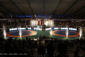 گزارش تصویری : مراسم افتتاحیه مسابقات جام جهانی کشتی فرنگی در شیراز