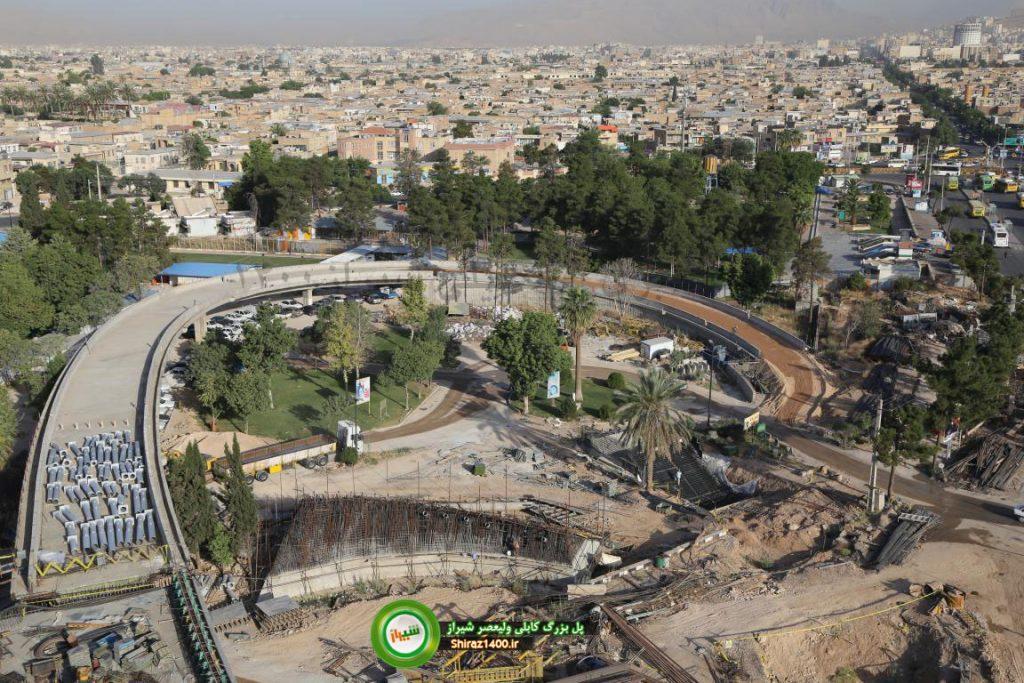 آماده سازی لوپها پل کابلی ولیعصر شیراز