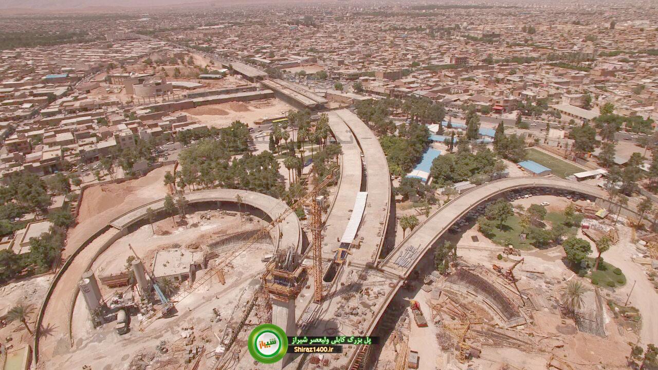 گزارش تصویری : پل بزرگ کابلی ولیعصر شیراز