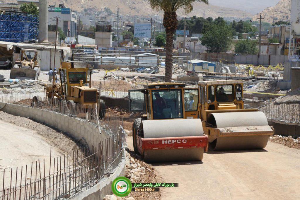 زیرسازی لوپها پل کابلی ولیعصر شیراز