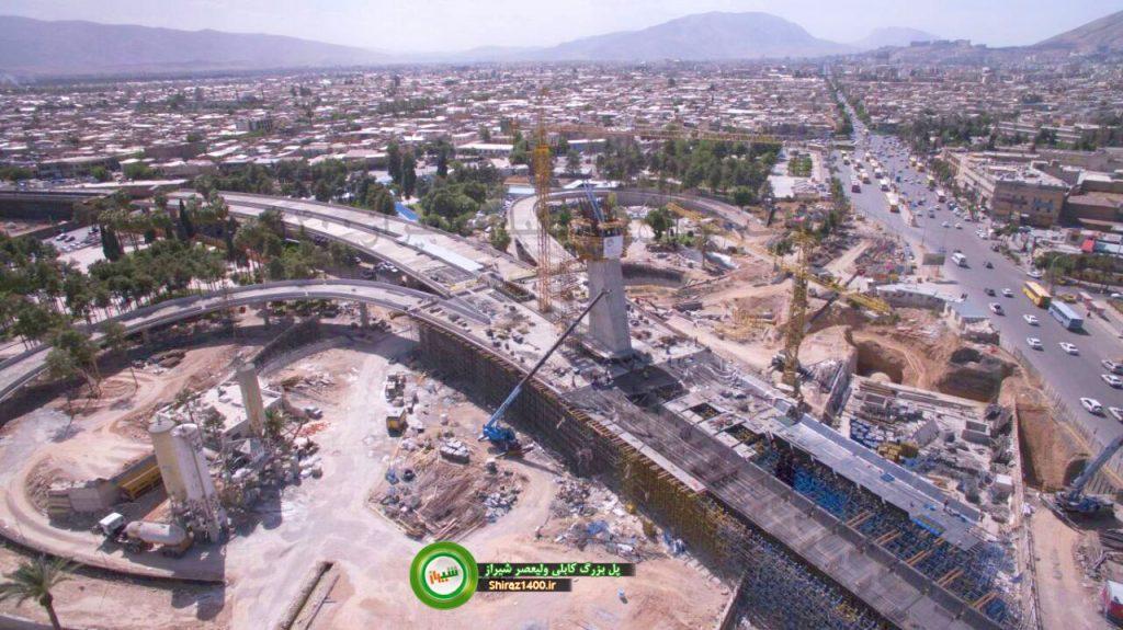 نصب هم ورک تیوبها پل کابلی ولیعصر شیراز