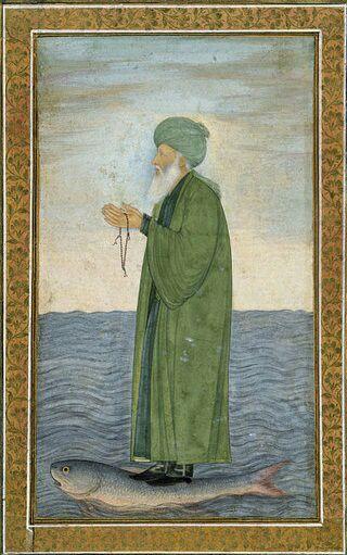 تصویری از خضر نبی قرن 17 میلادی