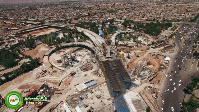 تصاویر هوایی از پل کابلی ولیعصر شیراز