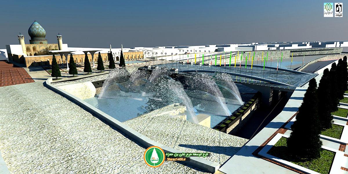 پروژه محوطه سازی حرم مطهر علی بن حمزه (ع) در دست اجراست