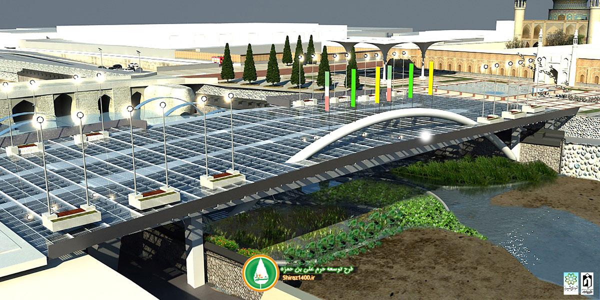 طرح گردشگری علی بن حمزه و پل شیشه ای رودخانه خشک