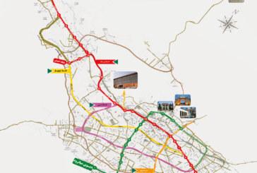 نقشه کامل خطوط مترو شیراز با کیفیت مناسب