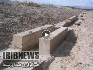 پاکسازی و حفاظت از آبراهه های باغ پاسارگاد+فیلم