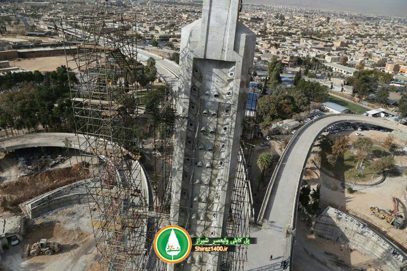 گزارش شیراز۱۴۰۰ از روند ساخت پل کابلی شیراز