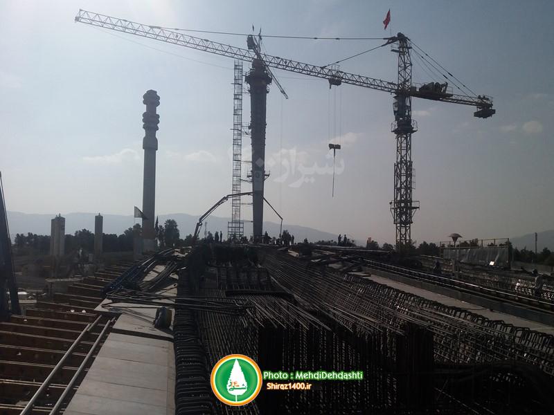 پایلون پل کابلی ولیعصر شیراز تکمیل شد
