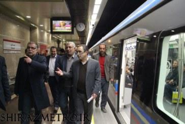 گزارش تصویری : بازدید معاون وزیر کشور از مترو شیراز