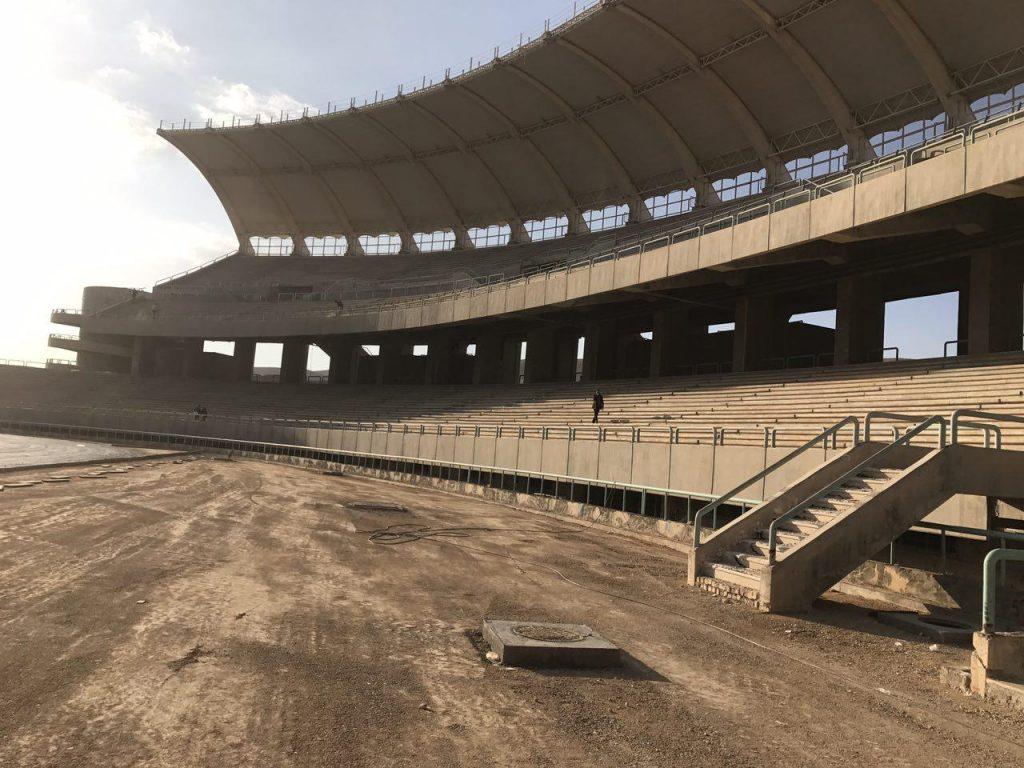 آخرین روند ساخت ورزشگاه ۵۰ هزارنفری پارس شیراز - آذر 95
