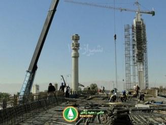 گزارش خبری : جابه جایی ستون تخت جمشید میدان ولی عصر شیراز