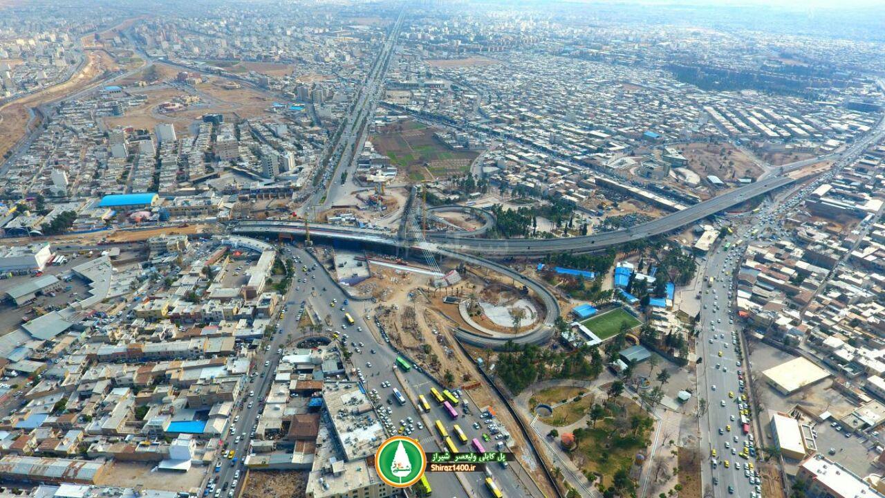 پیشرفت پل کابلی شیراز به ۹۵% رسید