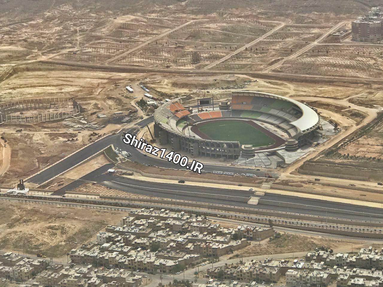 تصویر هوایی از استادیوم ۵۰ هزار نفری پارس شیراز