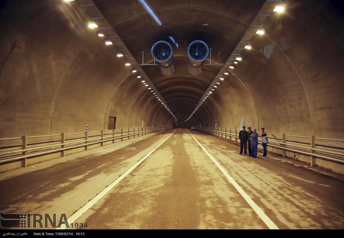 گزارش تصویری : افتتاح بزرگراه و تونلهای کوهسار